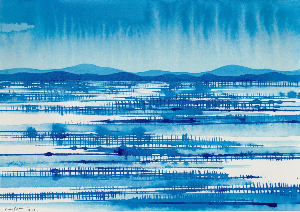 Blue Drawing Western NSW, ink on paper 21x30cm