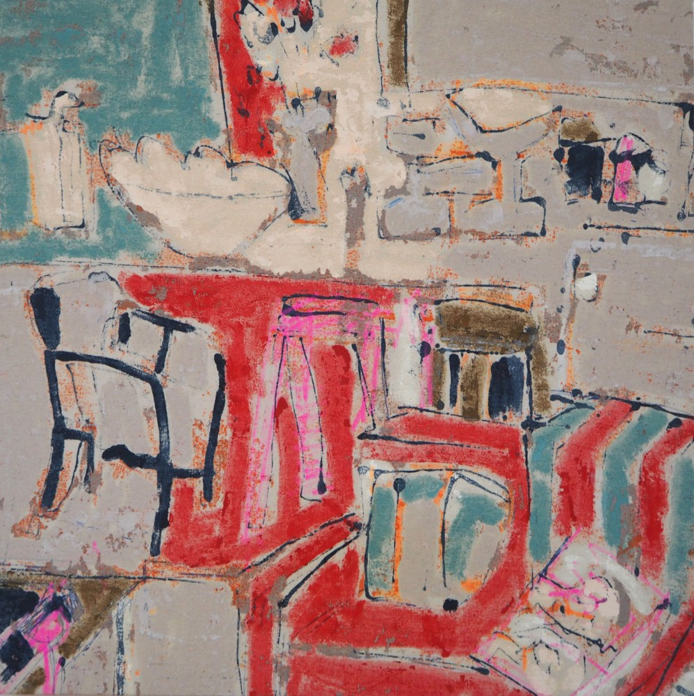 The pink Stool #2 50 x 50 cm