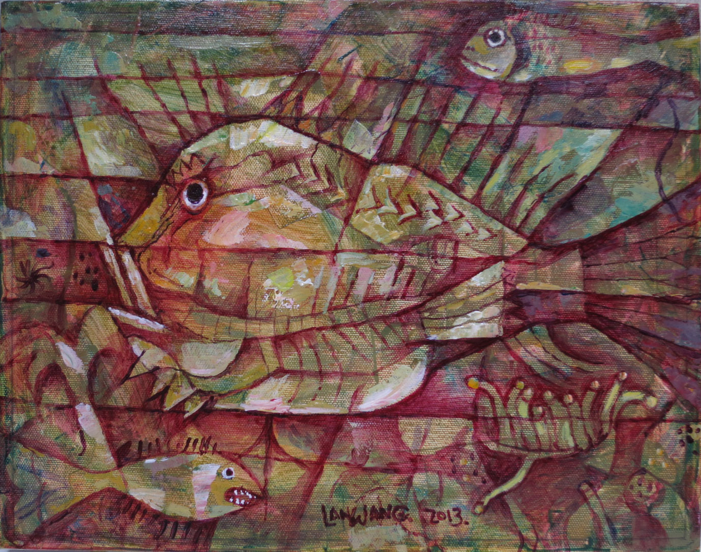 13-fish-no2-2013-35x28cm-canvas-400