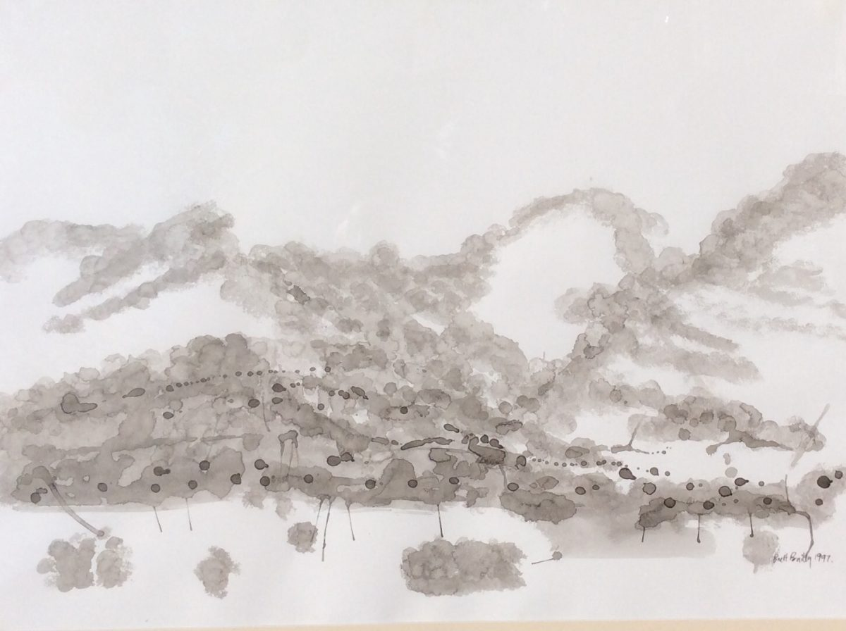 Classic Landscape 68 x 88cm Chinese ink on Japanese paper $1800 framed