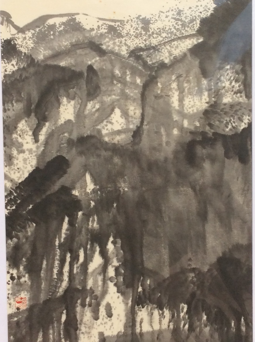 Gorge II 88 x 45 cm Chinese ink on Japanese paper $800