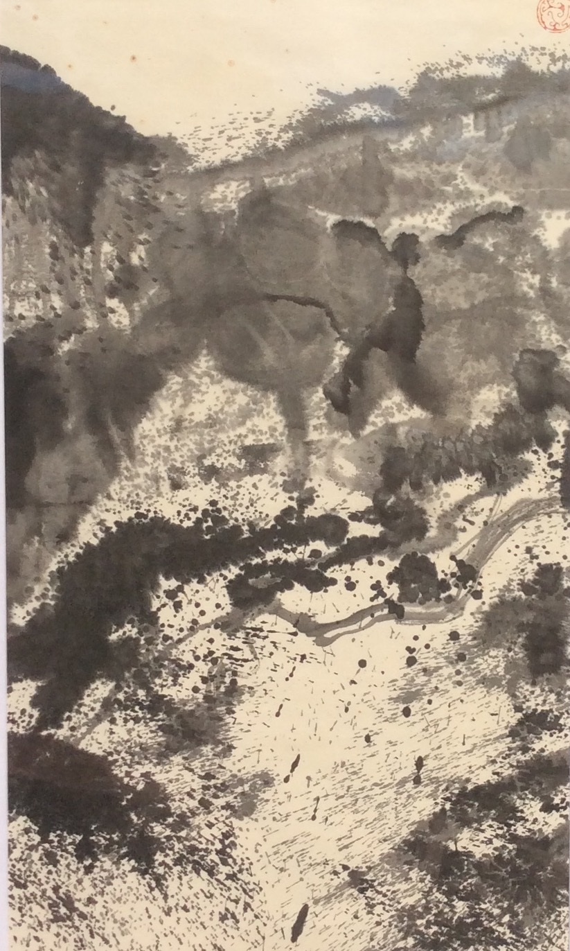 Gorge III 88 x 45 cm Chinese ink on Japanese paper $800
