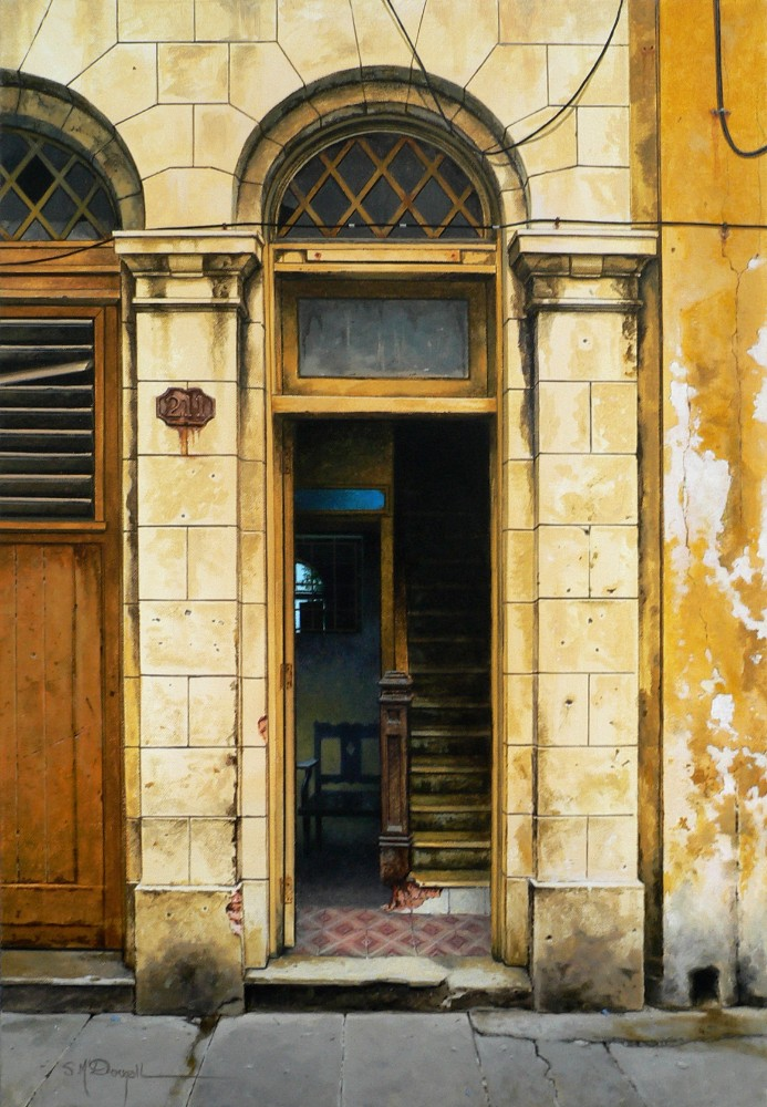 Havana doorway No.211_ 61cmx41cm