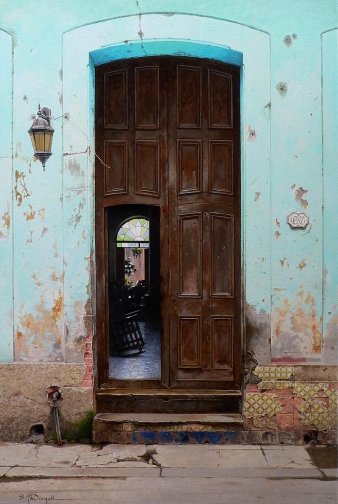 Havana doorway no.67_ 90cmx60cm