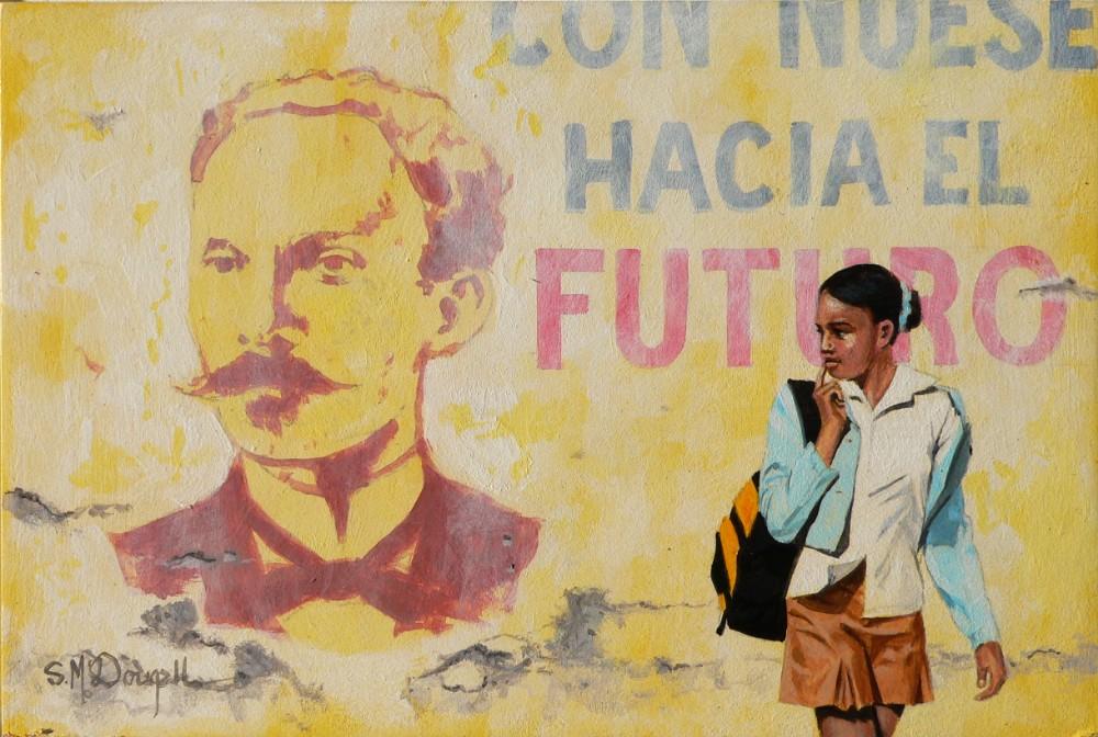 School girl- Havana 14cm x 21cm