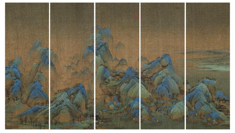The Landscape No.1, 小图 (345cmX200cm)200cmX69cmX5. Inkjet Pigment print, 2014, 3+2AP, $35,000+gst