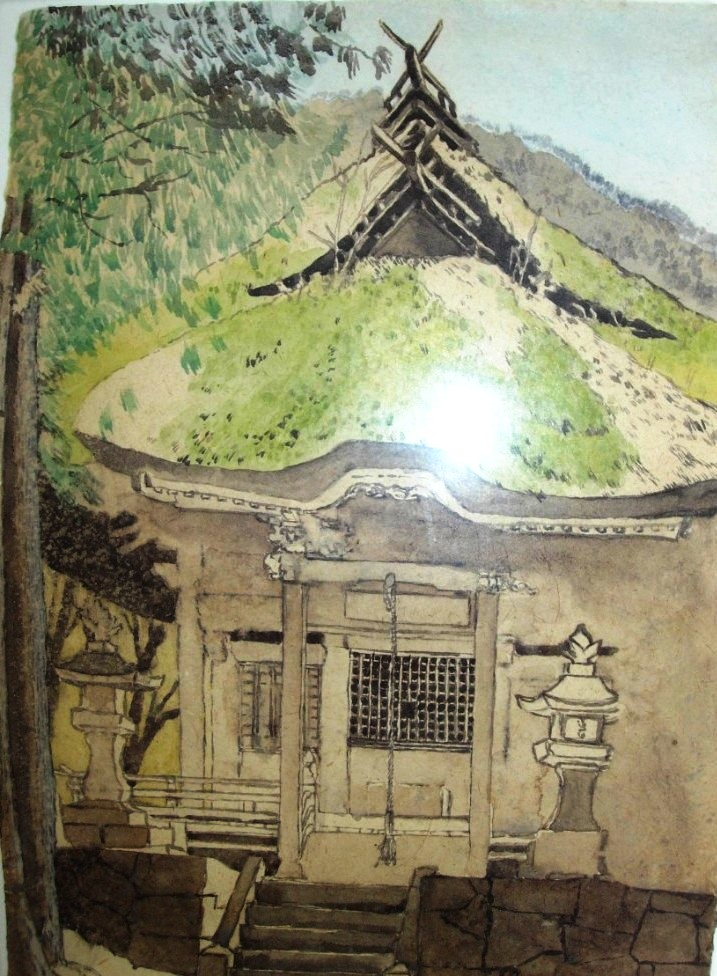 11. Max Miller Japan - Mountain Temple 1996 27 x 19.5 FR 49 x 41