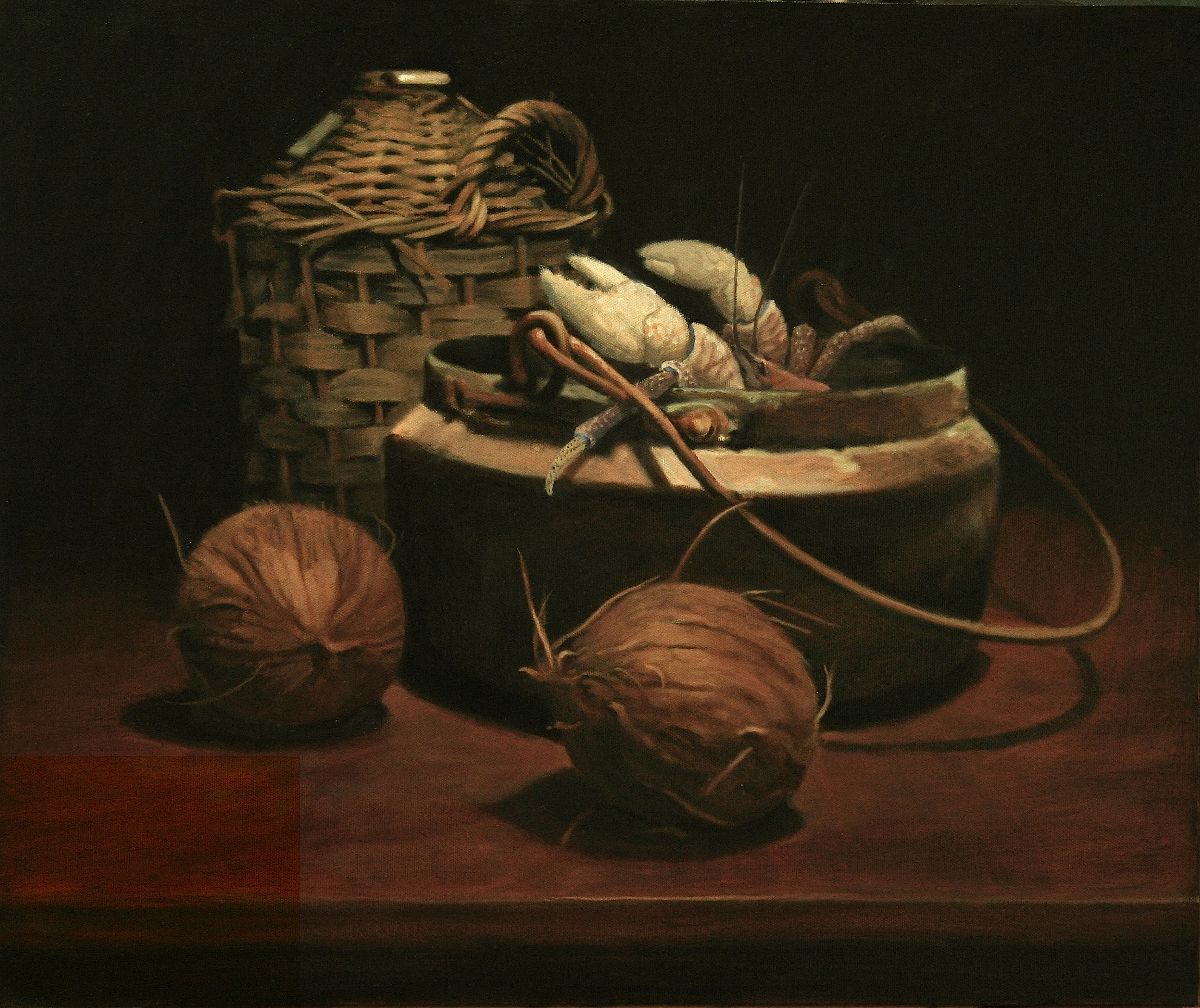 12Still Life with Coconut Crab 2009 Oil on canvas 50x60cm $5,000