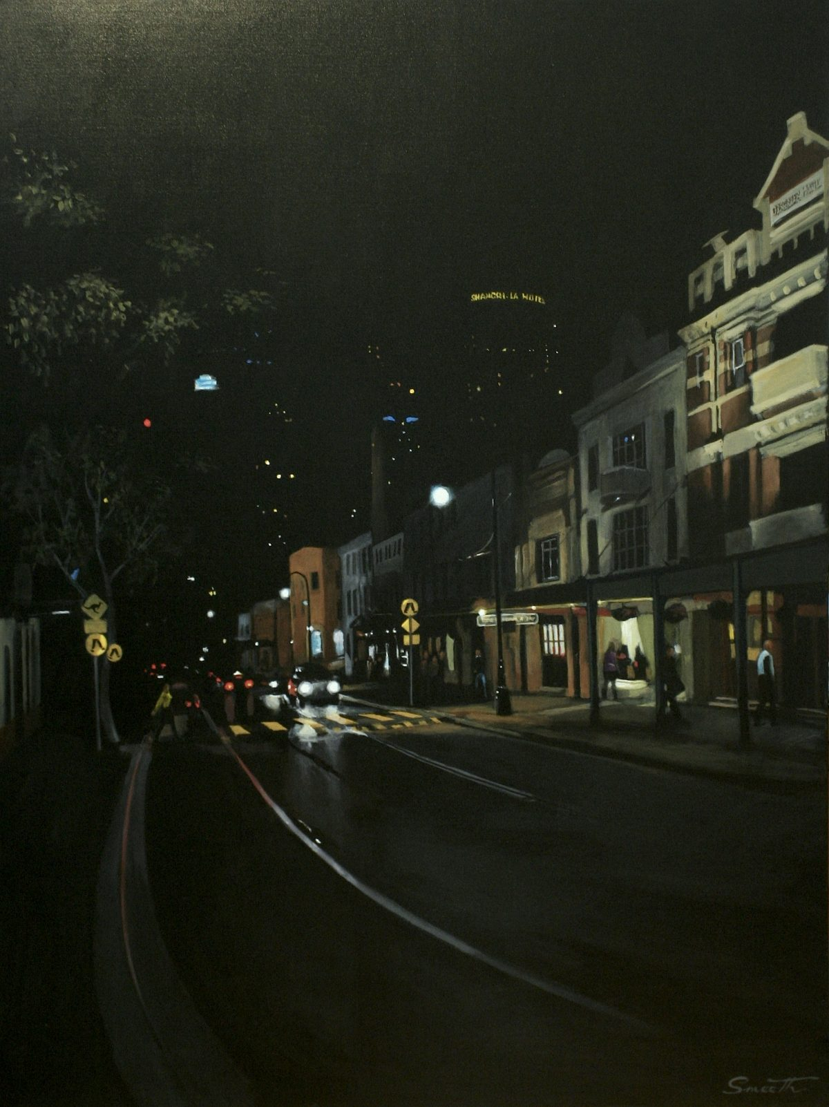 6Night Lights Symphony - The Rocks, Sydney Australia 2005. Acrylic on canvas 120x90cm $8,000