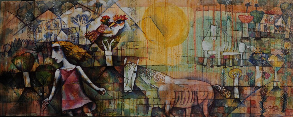 HOME No3. (2011). 61x152cm Acrylic on Canvas. $3000.