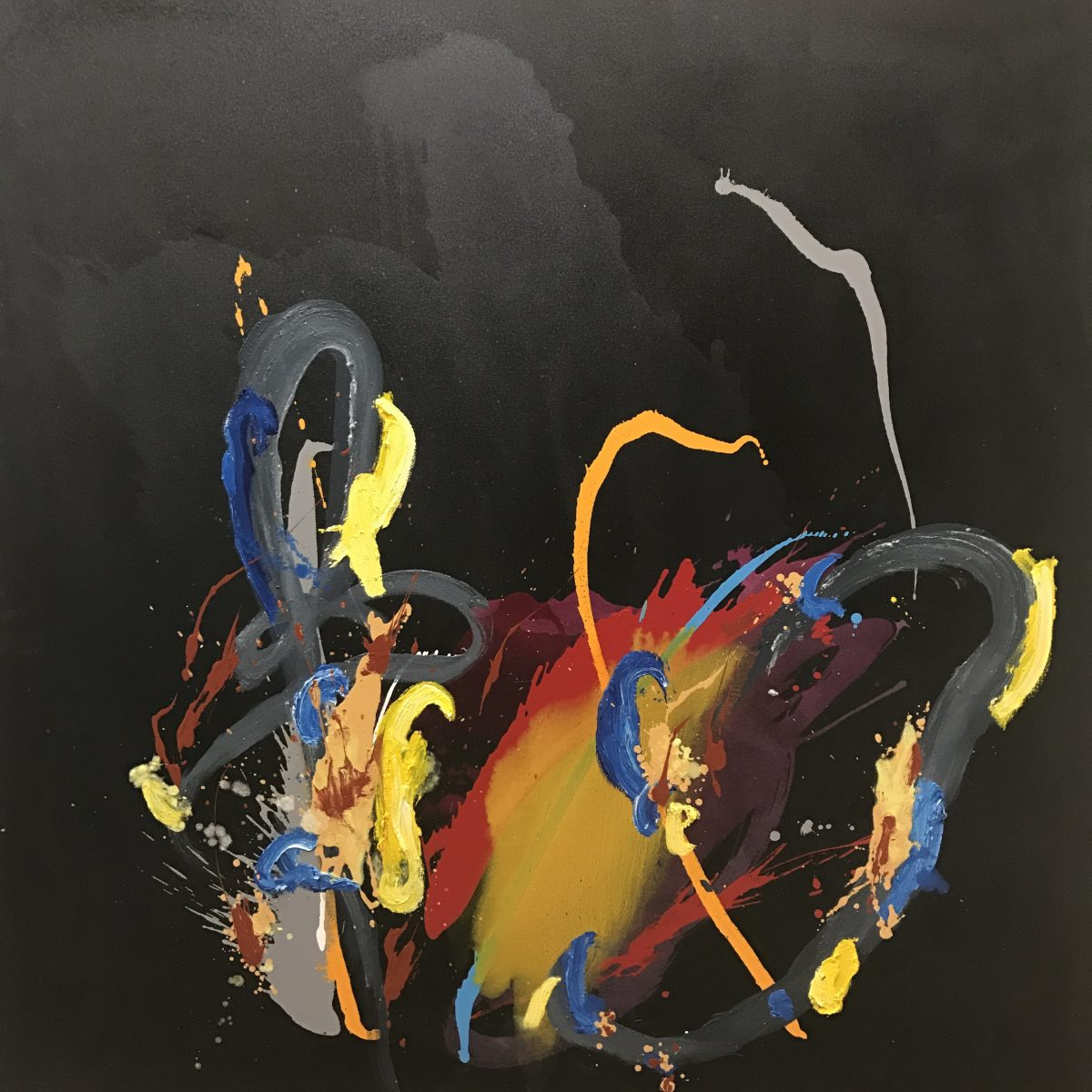 Graham Kuo_And all that joy_Oil and acrylic on canvas_152x152cm