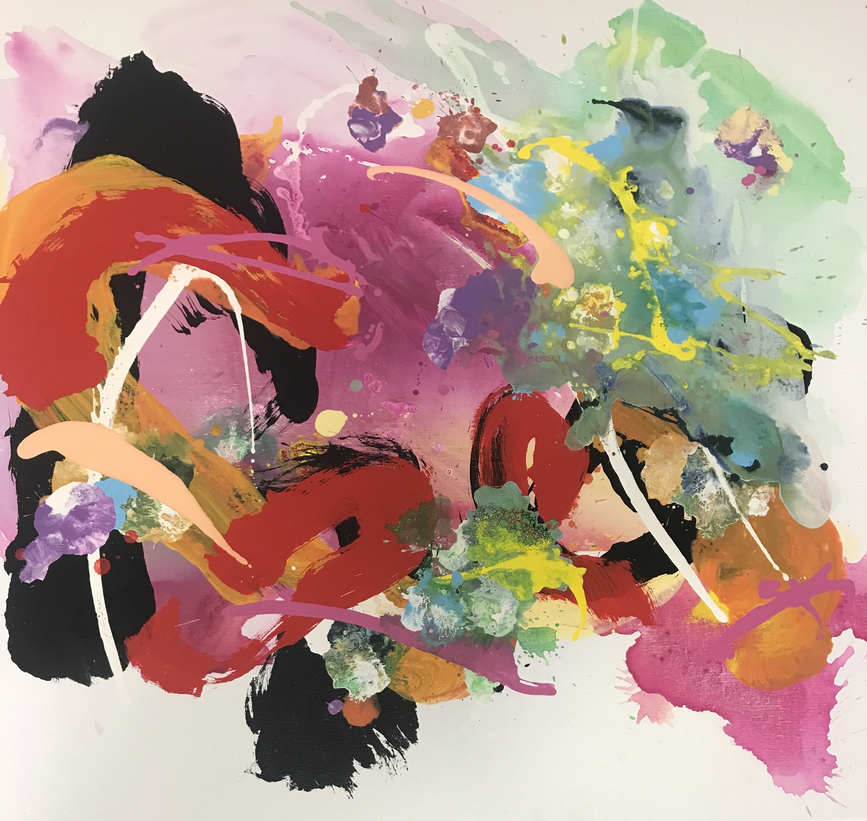 Kuo_Graham_AndFlowersPickThemselves1_AcrylicOnCanvas_106.5x106.5cm