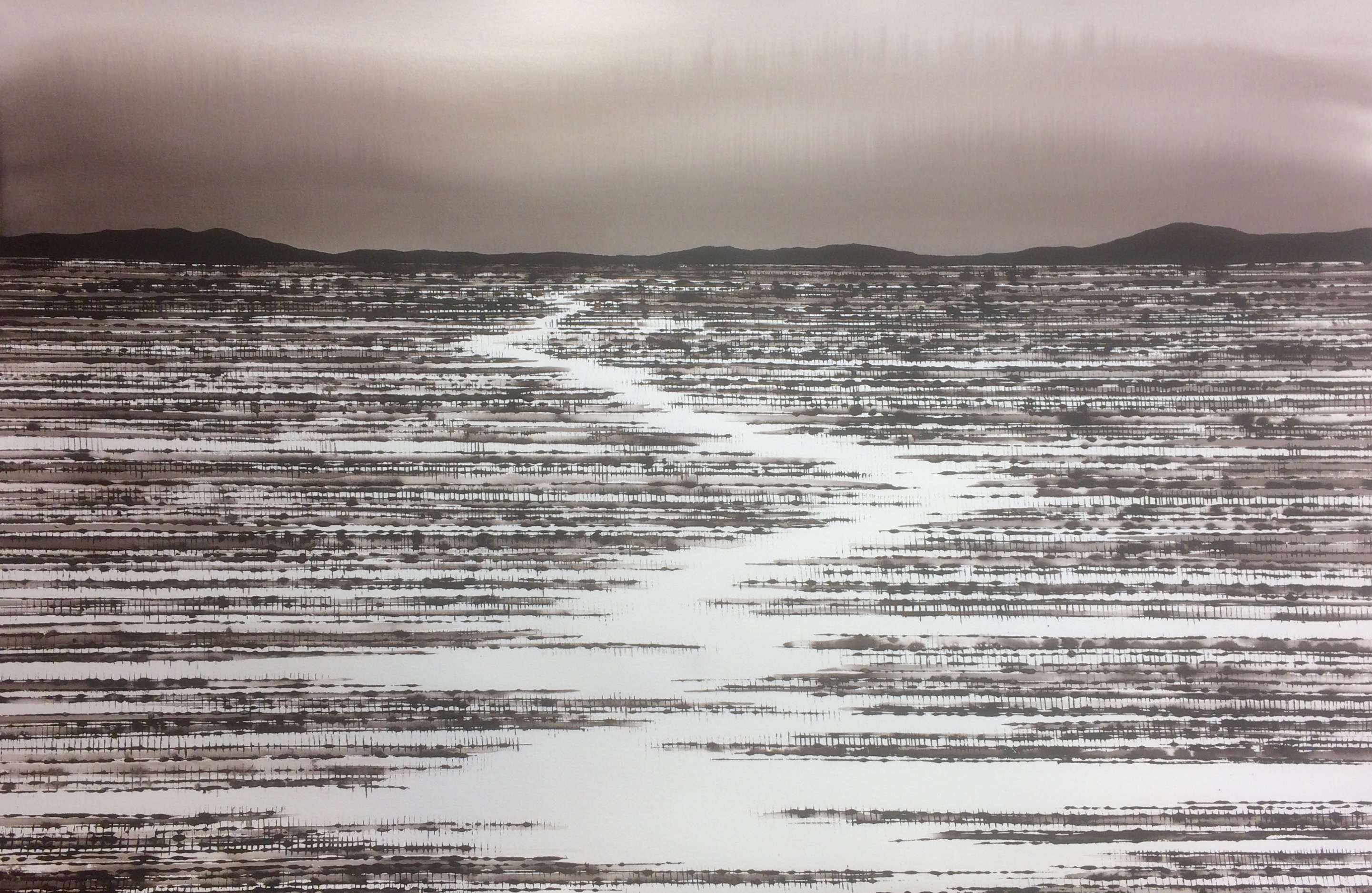 Dry River Bed ink on canvas, 122x155cm,$7500