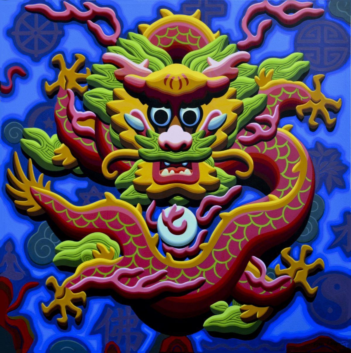 $18000_Dragon&WorldReligion142x140cm_acrylic_canvas