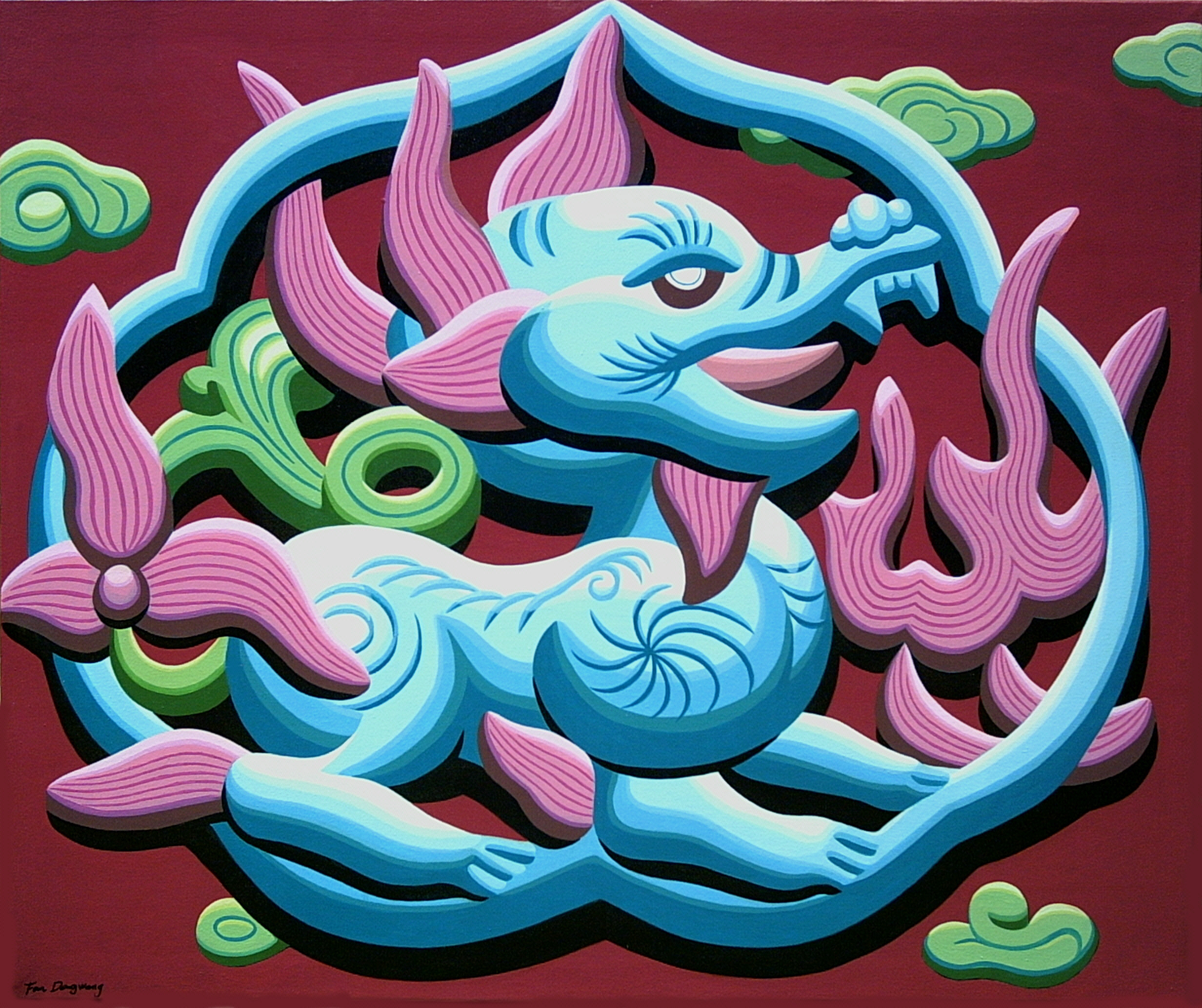 $6000_Kylin(Unicorn)_90x108cm_Acrylic_Canvas