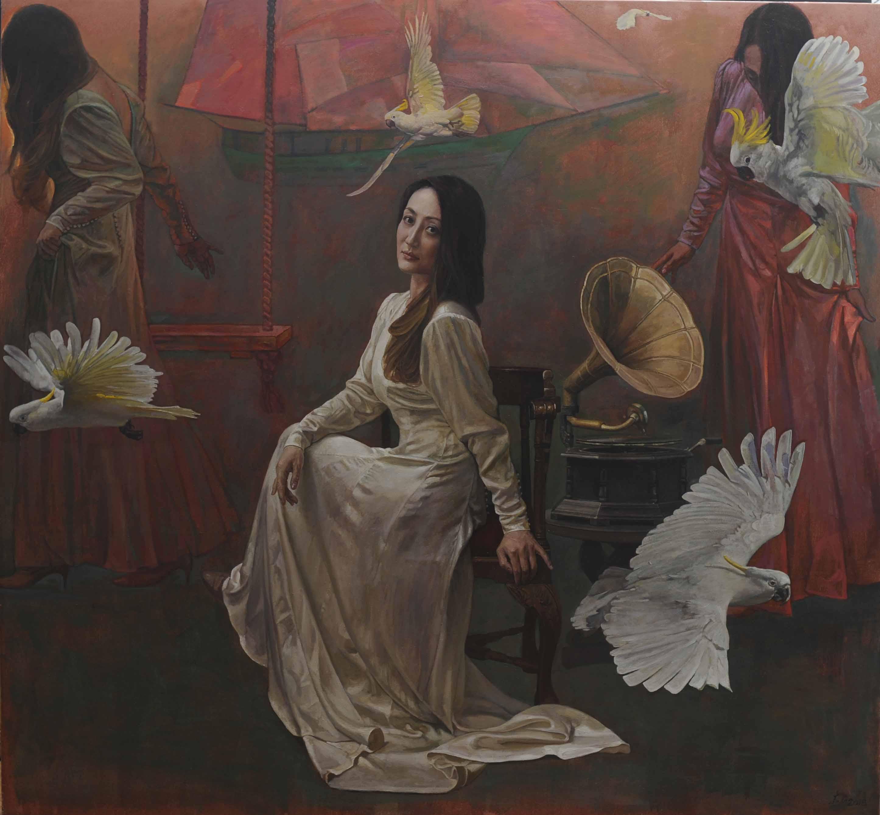 00 Nostalgia of Future 展望忆旧(2018) Oil on canvas, 198 x 213cm