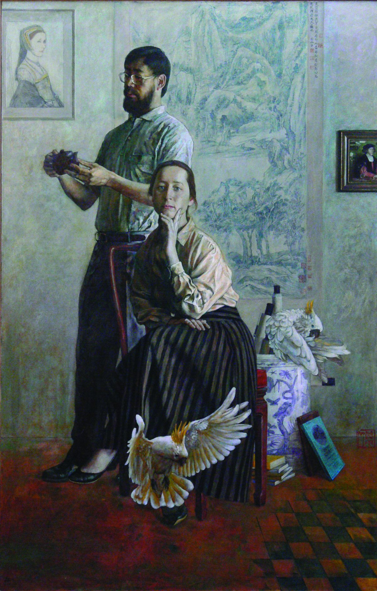 10 Counterpoint 对位 (1995) Oil on canvas 213 x 137cm