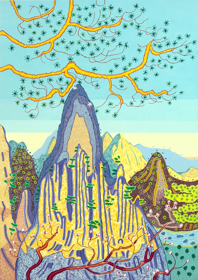 Art Atrium Jacqueline Balassa Last Light - Yellow Mtn low res
