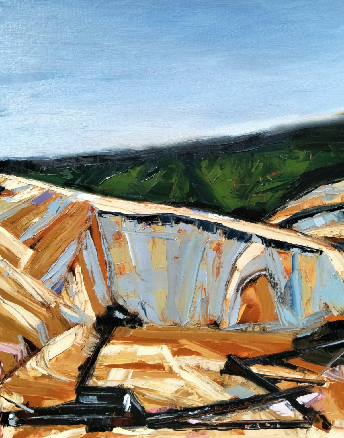 Art Atrium Nick Ferguson TMWM no.1, 2018, oil on Belgian linen, 76x61cm, $2500