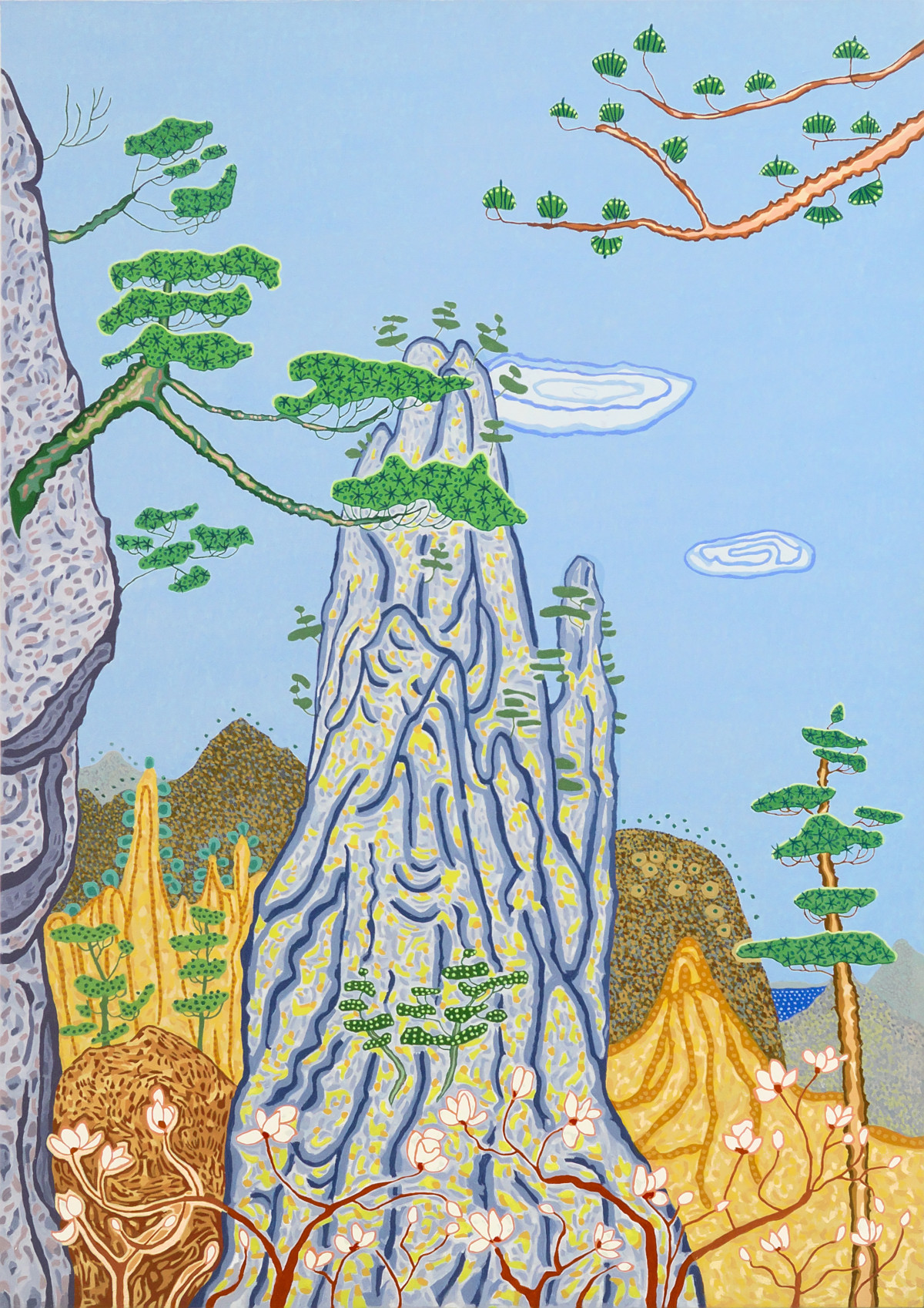 Art Atrium - Jacqueline Balassa Rocky Outcrop - Yellow Mountain