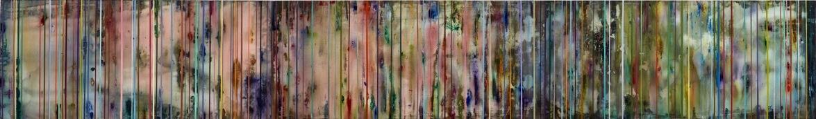 Art Atrium Julie Harris - TSS #6(Dusk) Acrylic on polyester 80 x 540cm