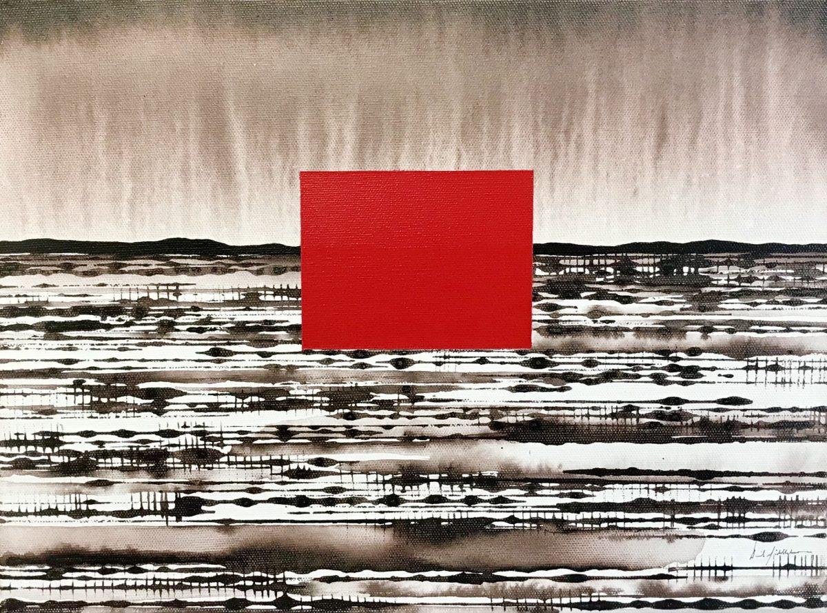 Art Atrium - David Middlebrook - Desert Field II, acrylic on canvas, 30x40cm