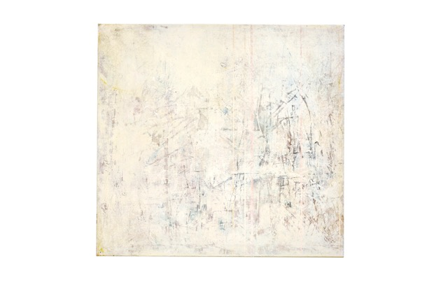 Art Atrium - Julie Harris - Breathing Space #1 2019 Acrylic and marble dust on canvas 80 x 85 cm