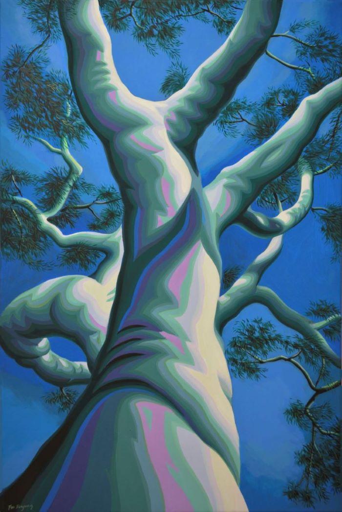 Art Atrium Fan Dongwang Jade Tree