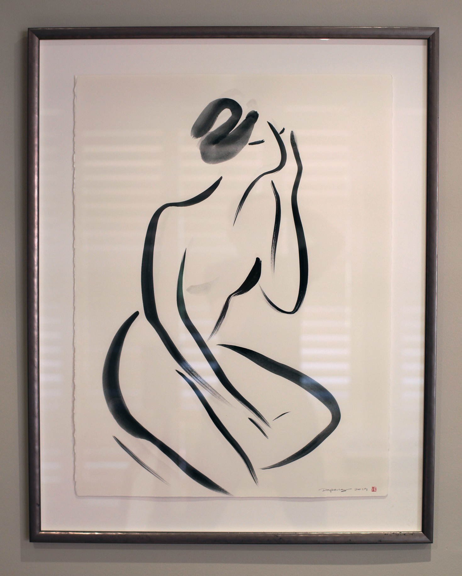 Untitled Nude Series, Gouache on Paper, 56x76cm, 2019