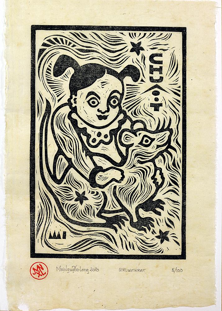 Art Atrium Mai Nguyen-Long Girl with Rat