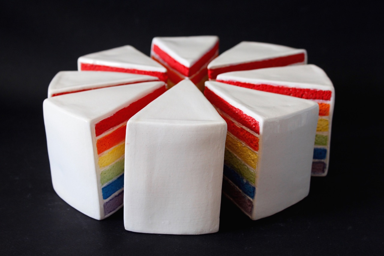 Art Atrium Jayanto Damanik Tan Rainbow Cake Party