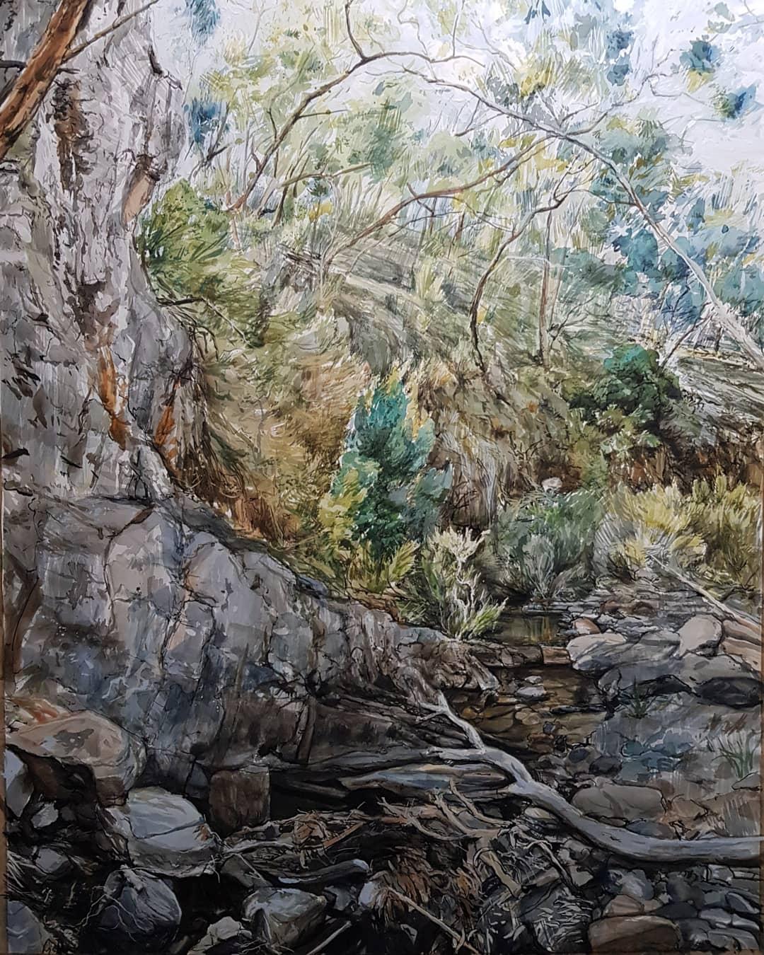Art Atrium Phillip Edwards - Creek bower and I am that bird