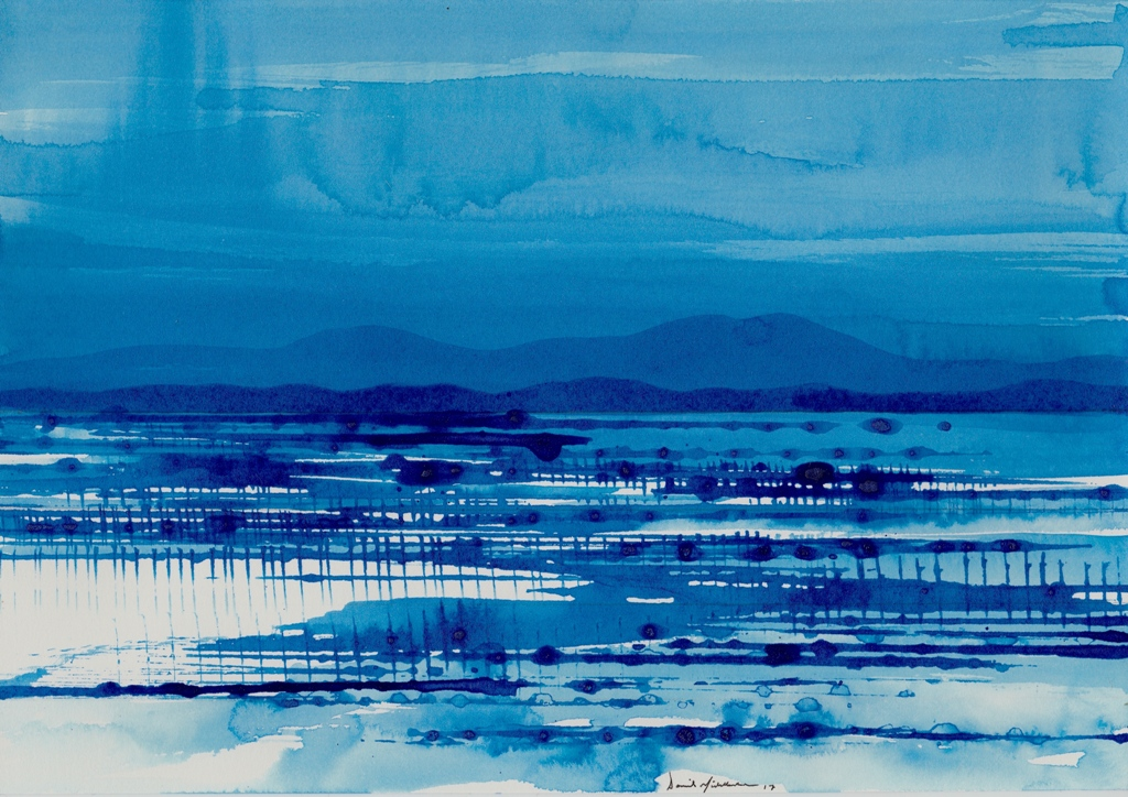 Blue, Promise of Rain ink on paper 21x30cm