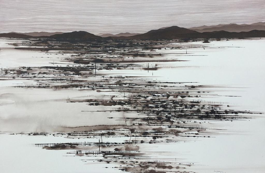 Desert Drought, ink on paper, 56x102cm