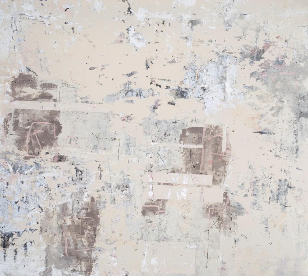 Heat Wave #2 137 x 152cm cm Acrylic, found ash, mixed media on canvas