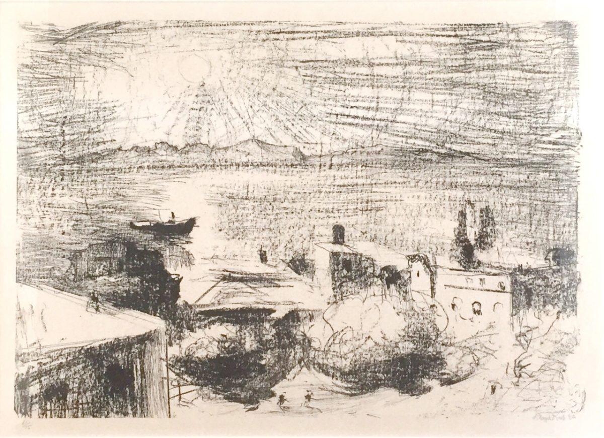 Art Atrium Lloyd-Rees-morning-light-hobart-1982-40-x-57-cm-lithograph