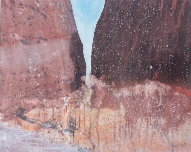 Kata Juta. 65 x 81 cm synthetic polymer on canvas $2800 ( framed)