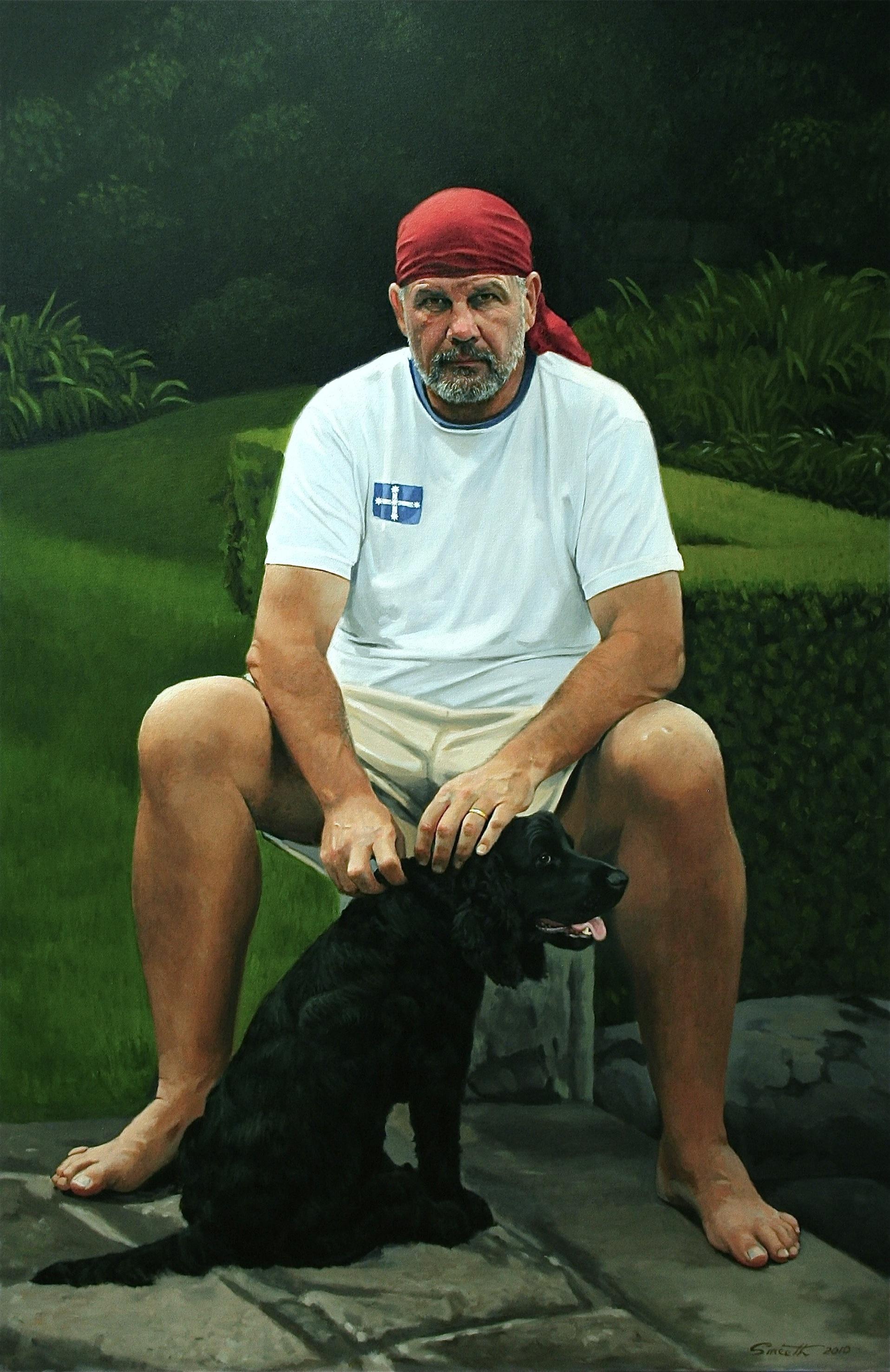 17Peter FitzSimons, Author. 2010 Oil on canvas. 180x120cm Archibald Finalist