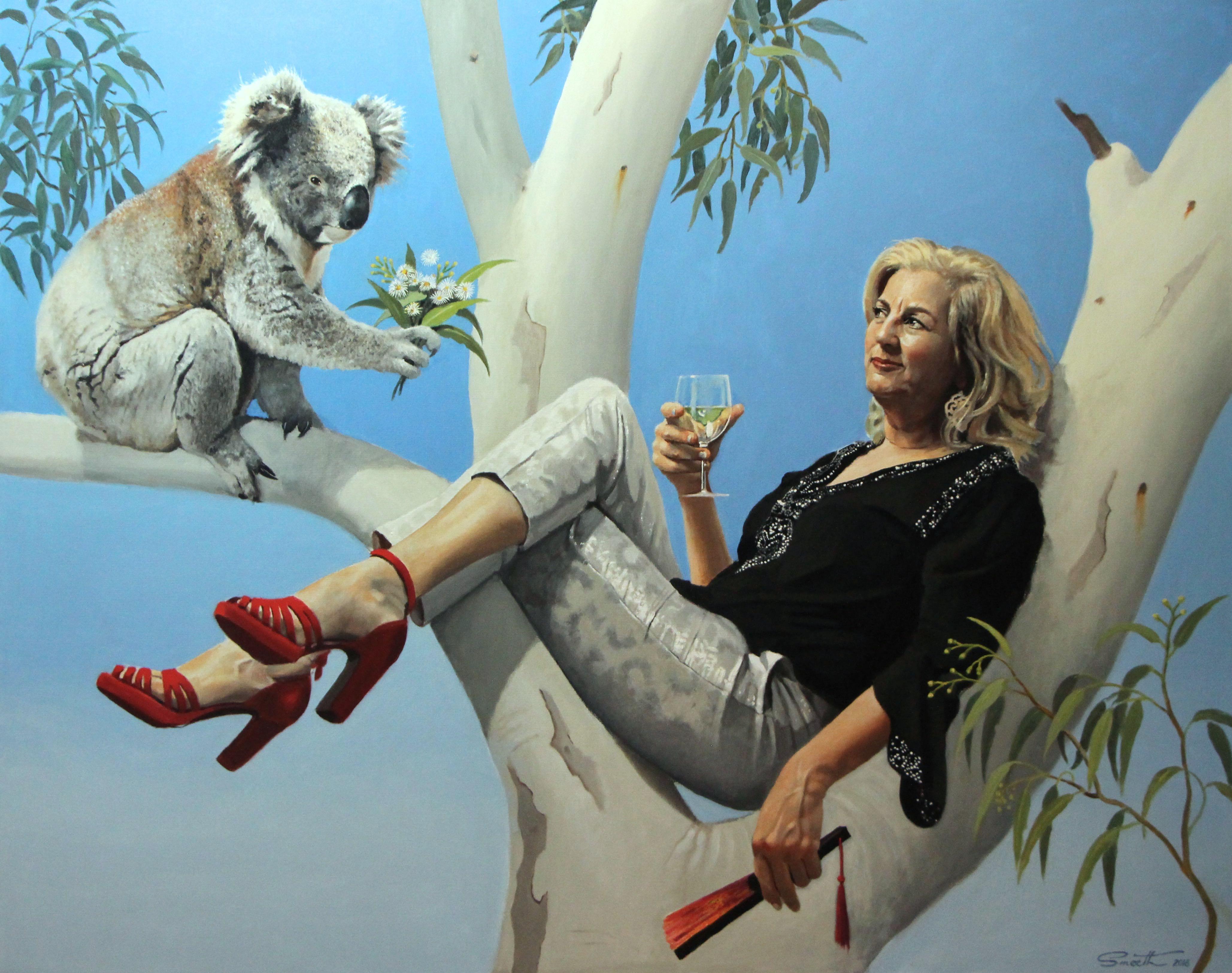 21-You're still hot to me- - A Portrait of Jean Kittson 2016 Oil on canvas 120x150cm Salon Des Refuses