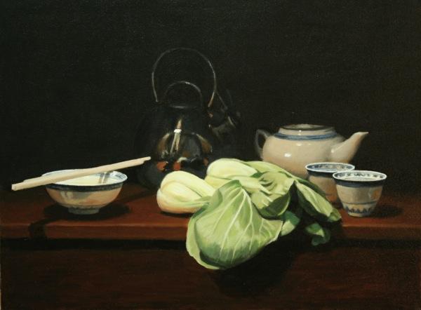 2Still Life with Bok Choy 2009 Oil on canvas 45x60cm $4,000
