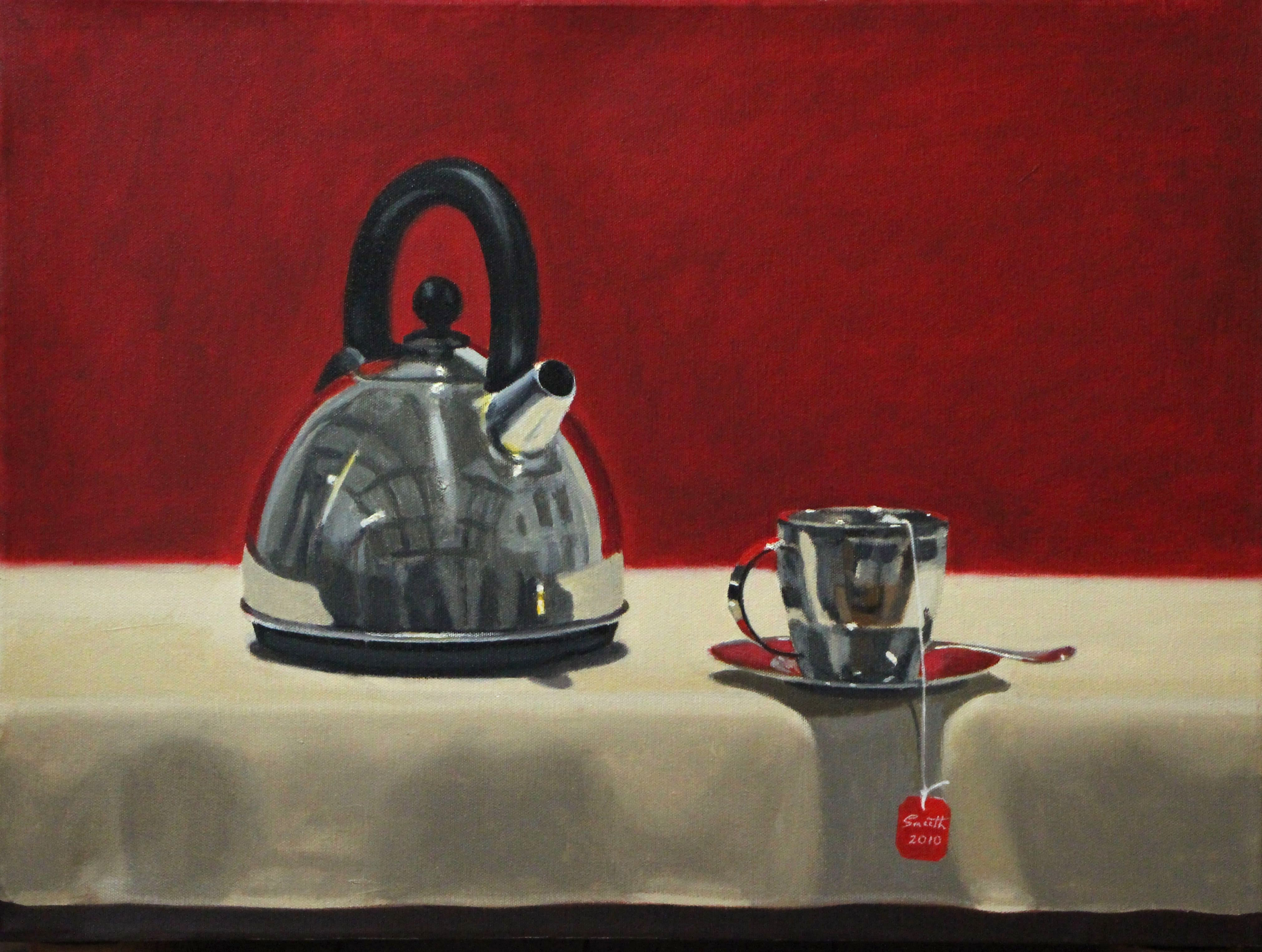 9Still Life with Kettle & Cup 2014 Oil on canvas 40x50cm$3,000