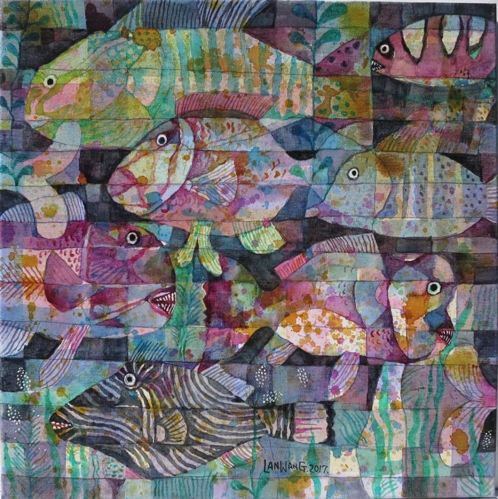 Metaphoricall Underwater. No13. 40x40 cm. $810