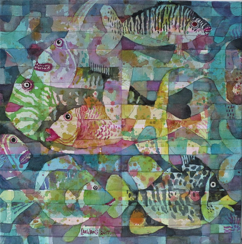 Metaphoricall Underwater. No7. 40x40 cm. $810