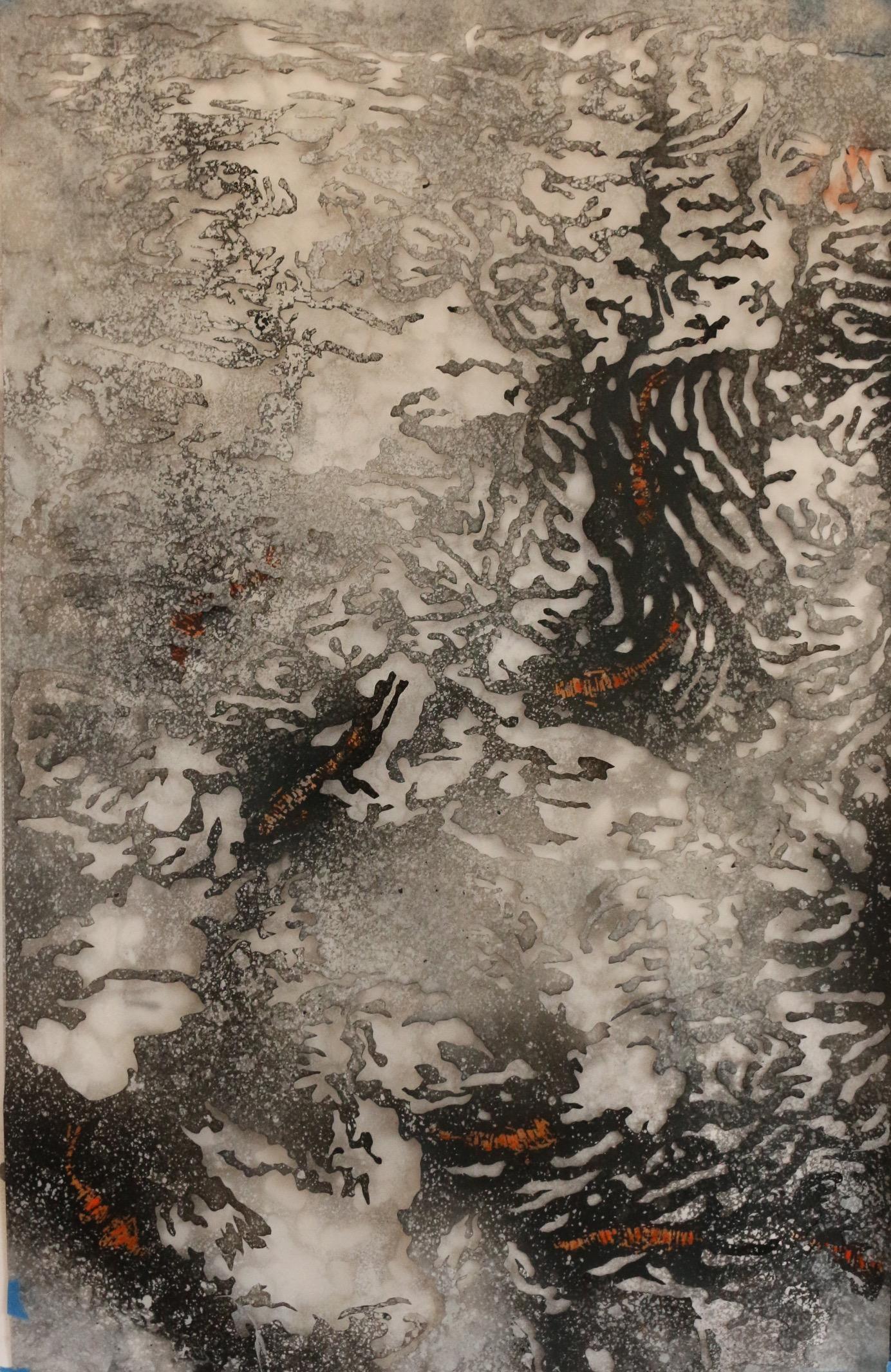 9.The Lily Pond V (Left Panel)
