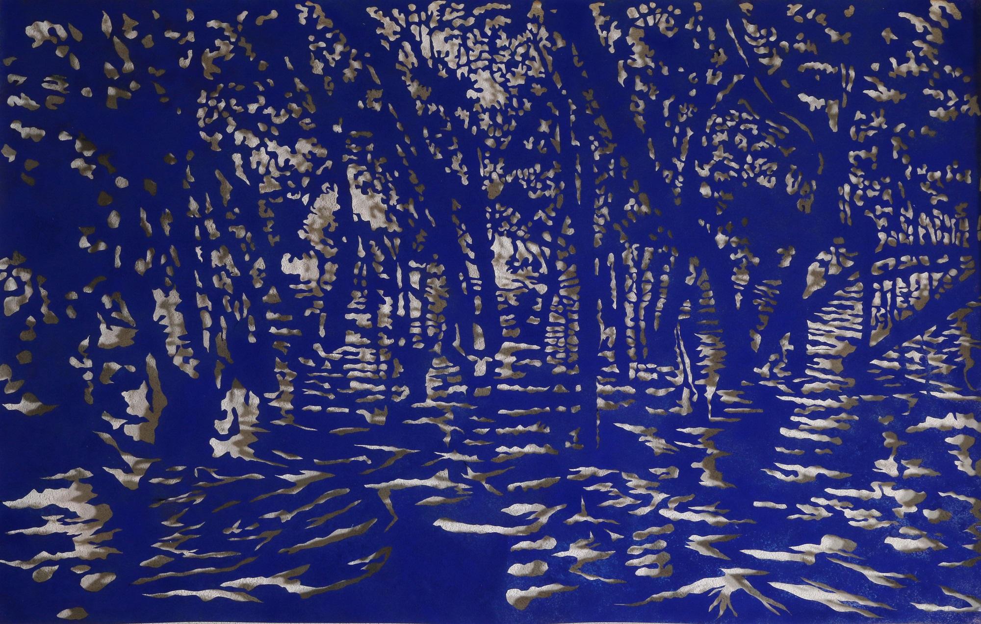Art Atrium Andrew Tomkins Blue Cut II