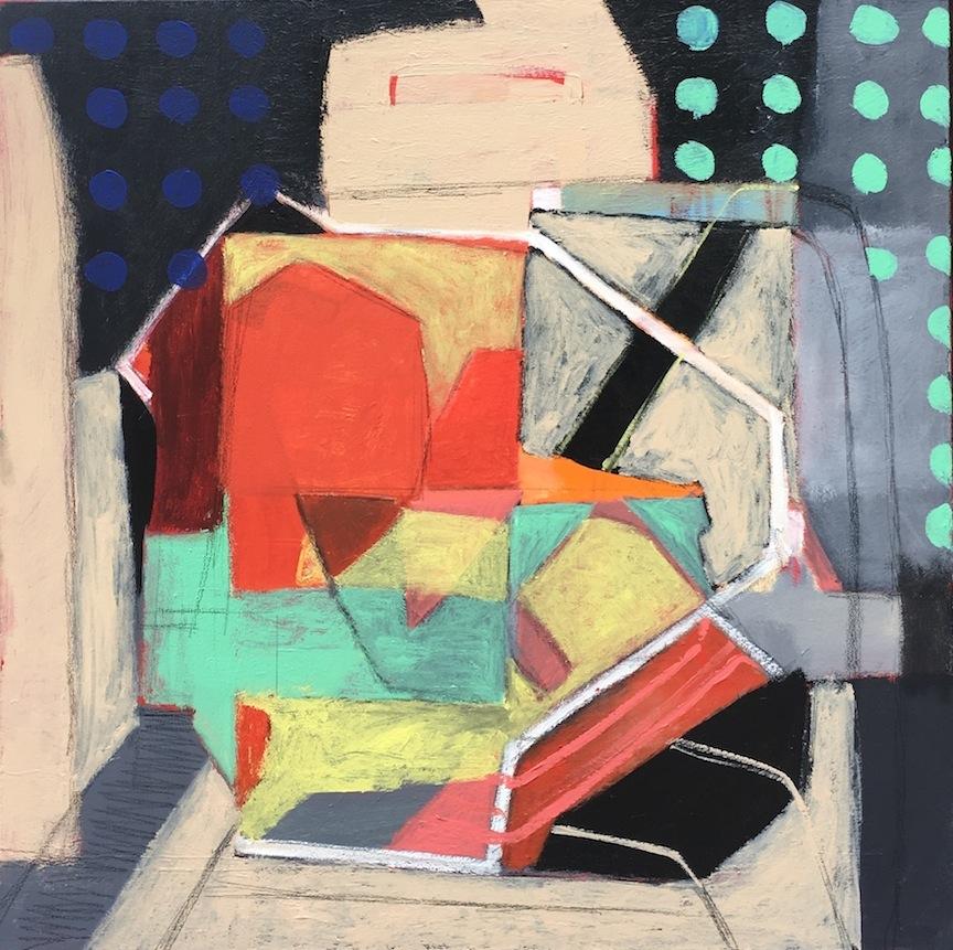 Loungeroom - acrylic on canvas 91 x 91cm