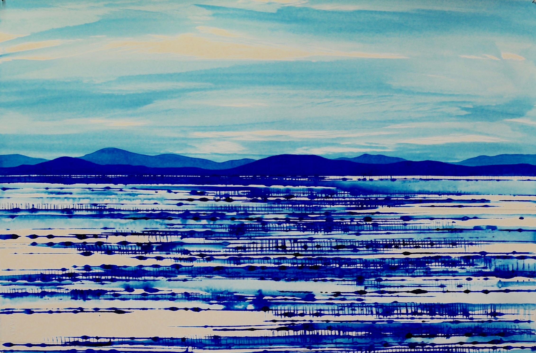 Blue Landscape 3 ink on paper 38x57cm