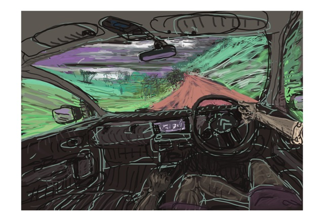 AAPC DrivingThrough 86 x 57cm
