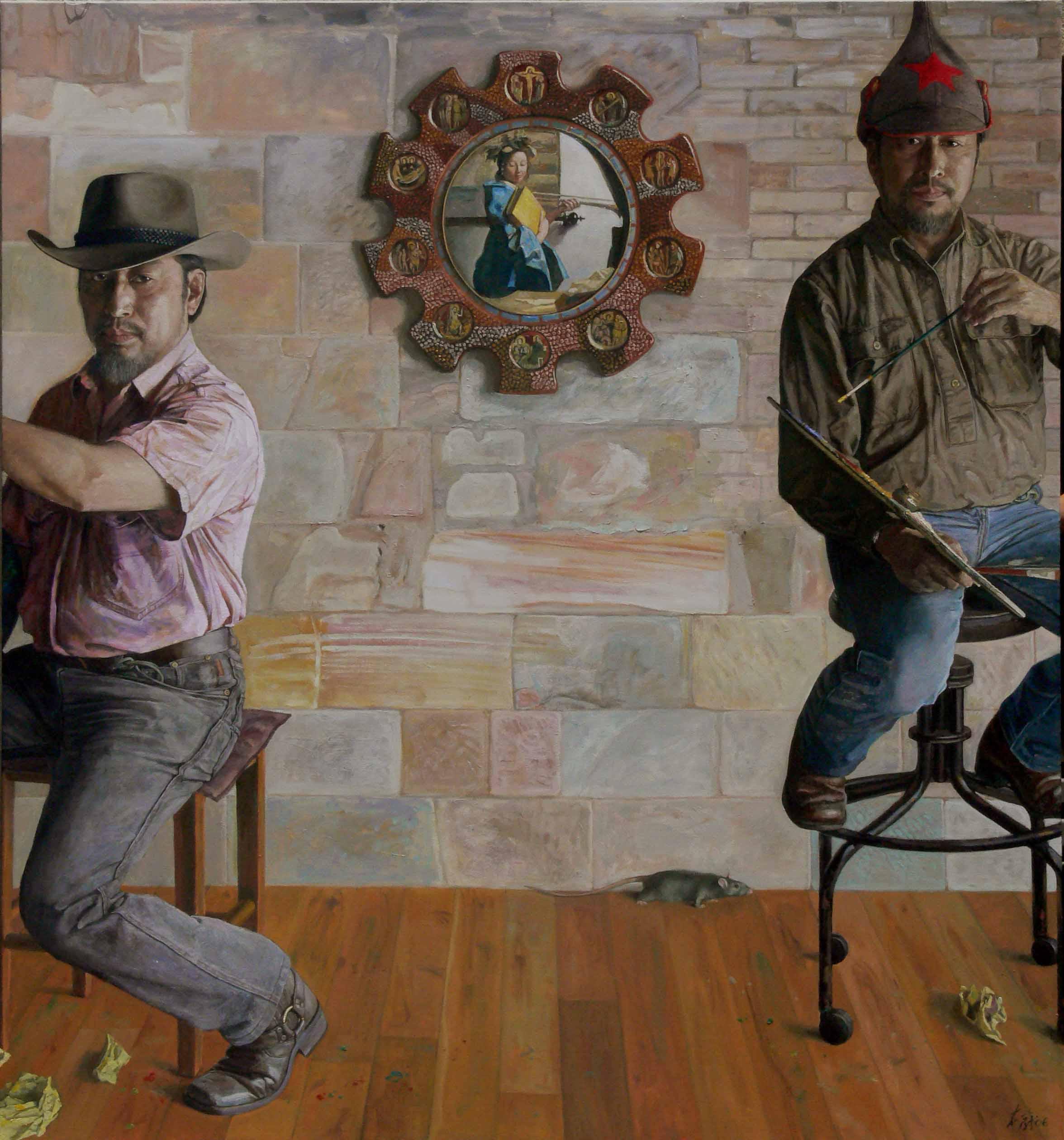 02 Tri-selves 三重自我 (2006) oil 213 x 198cm (1)