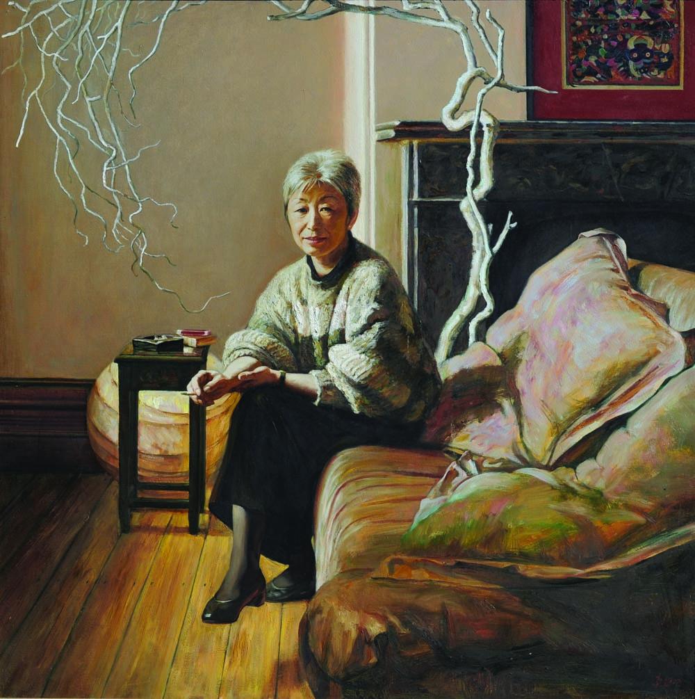 09 梅柏尔 Mabel (1991) oil on canvas 137 x 137cm
